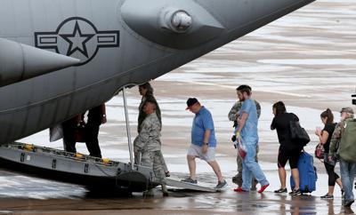 Dickinson evacuees evacuated from Galveston