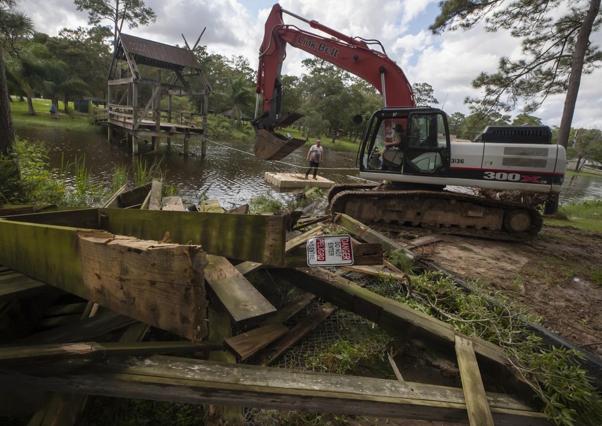 Paul Hopkins Park Bridge Demolition