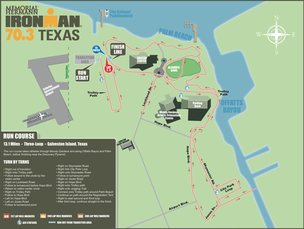 Galveston roads to be closed for Sunday Ironman race