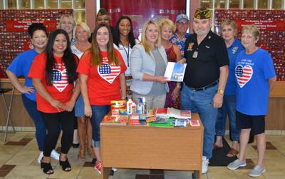 VFW Post No. 8248 donates school supplies