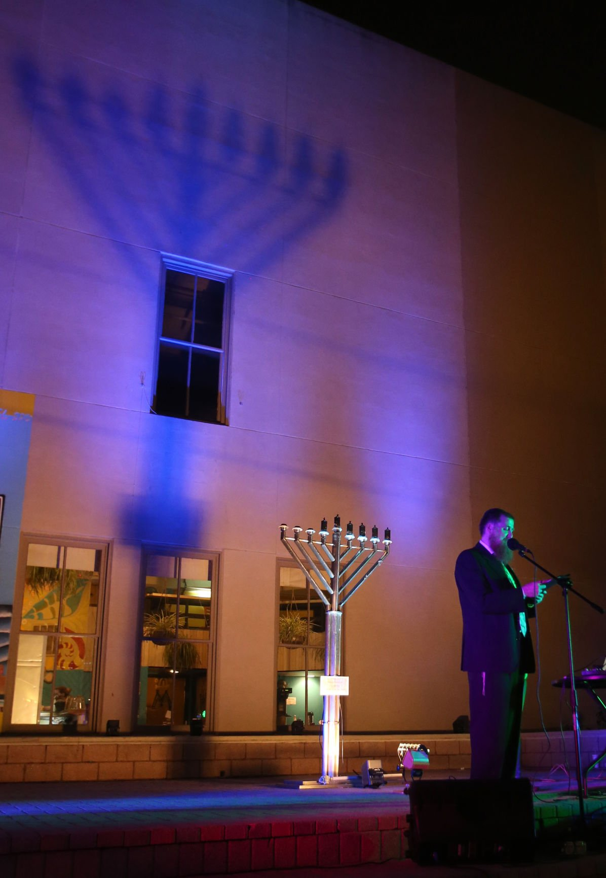 Hanukkah celebration on The Strand
