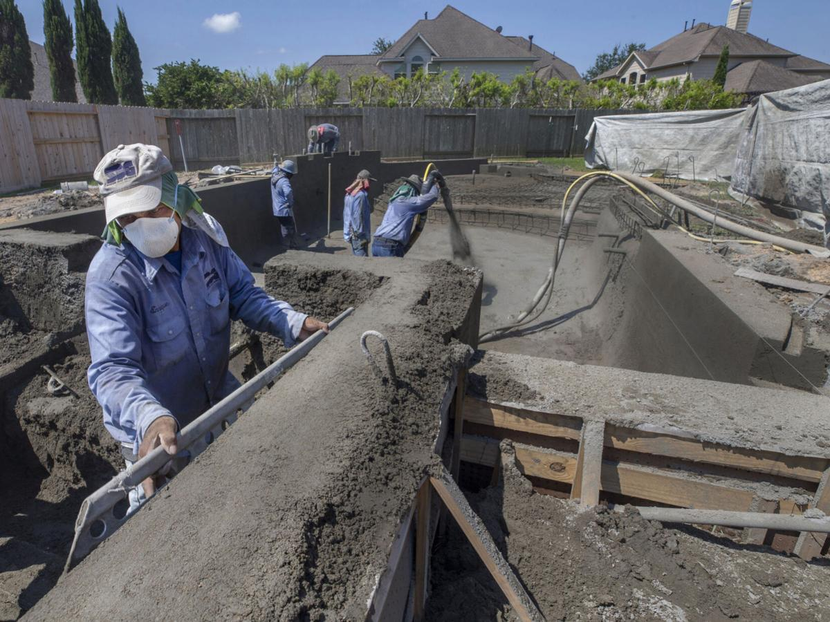 Galveston County residents take the plunge, build home pools amid pandemic