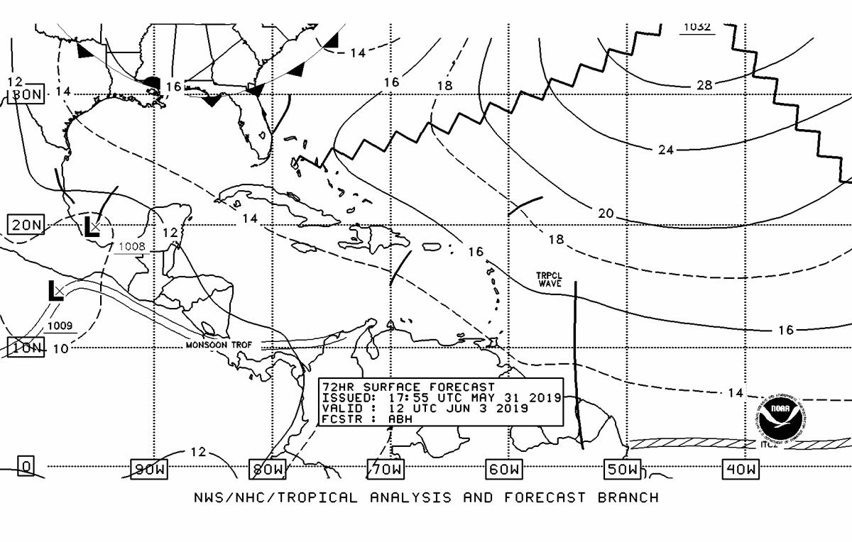 72 Hour Surface Forecast