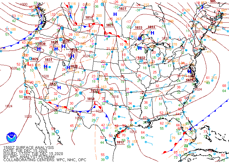 Current surface map