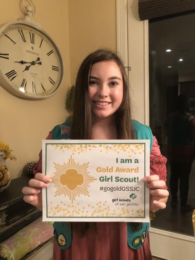 Katherine Mathews receives Girl Scout Award