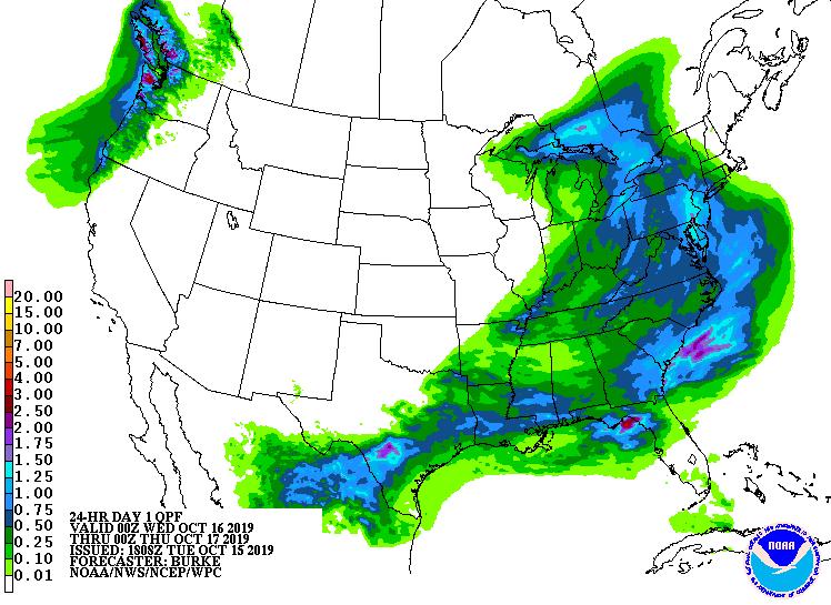 24 Hour Day 1 Quantitative Precipitation Forecast