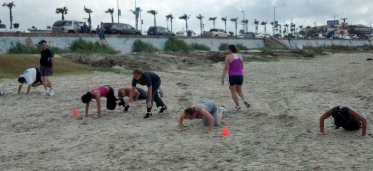 Burpees on the beach