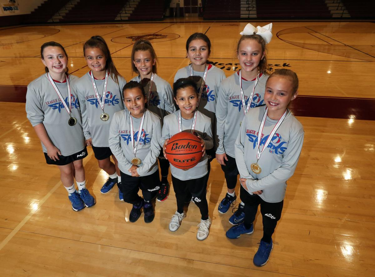 Youth girls basketball team