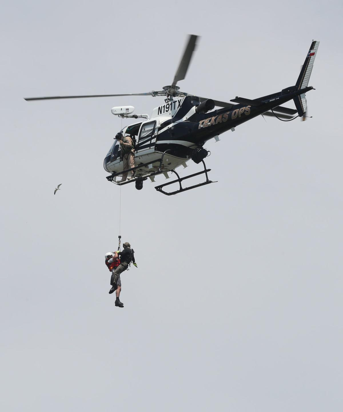 Helicopter search and rescue training