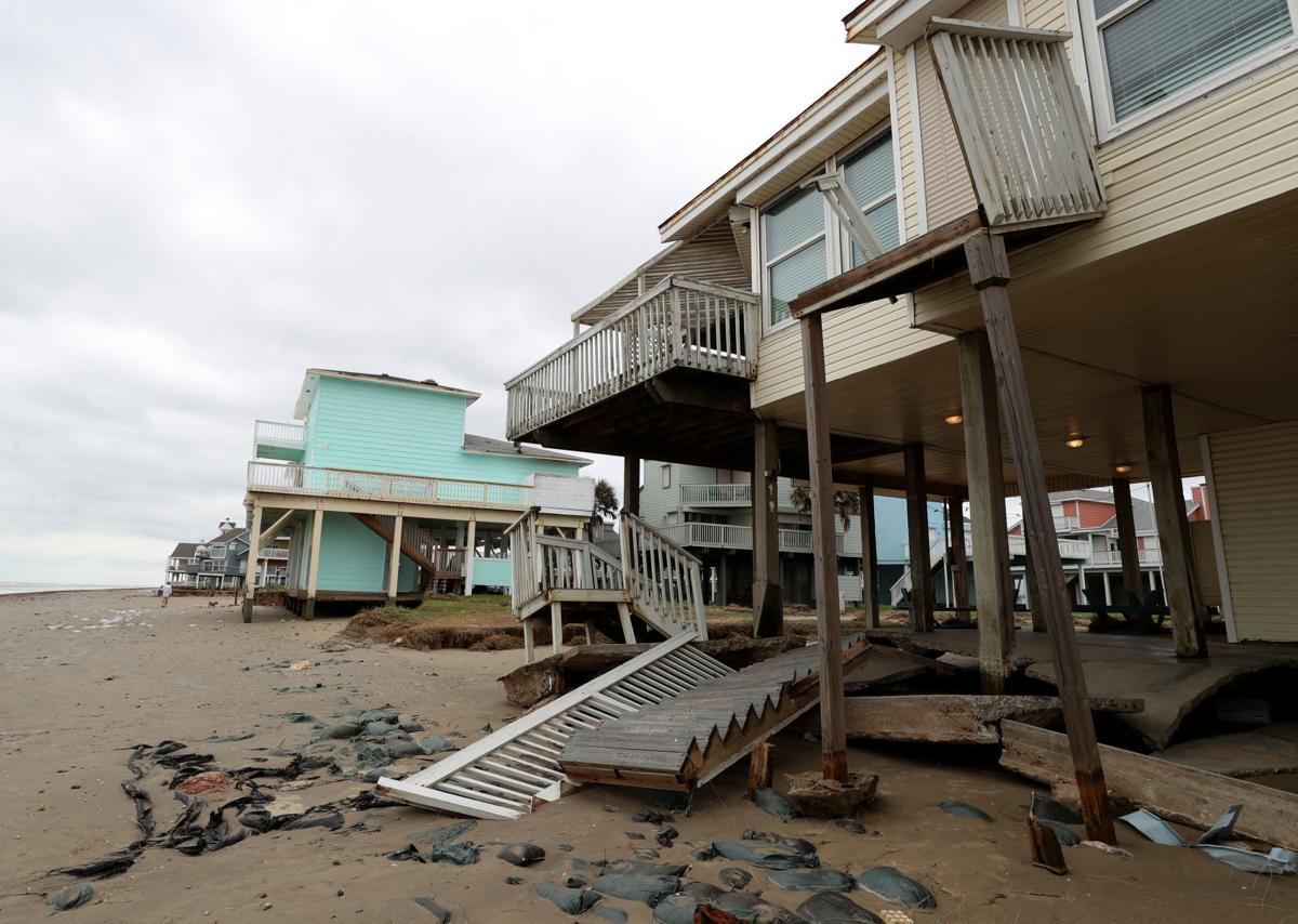 Laura, Beta damage West End dunes