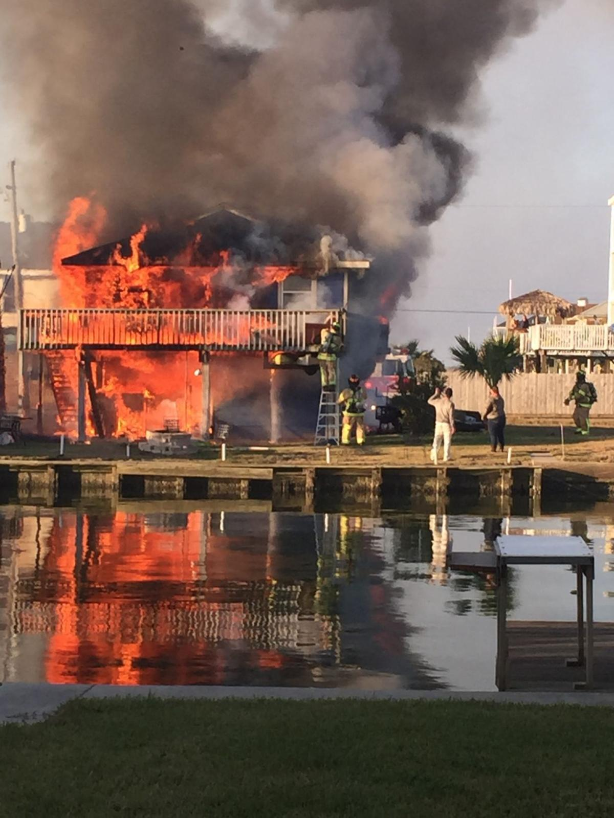 Jamaica Beach fire