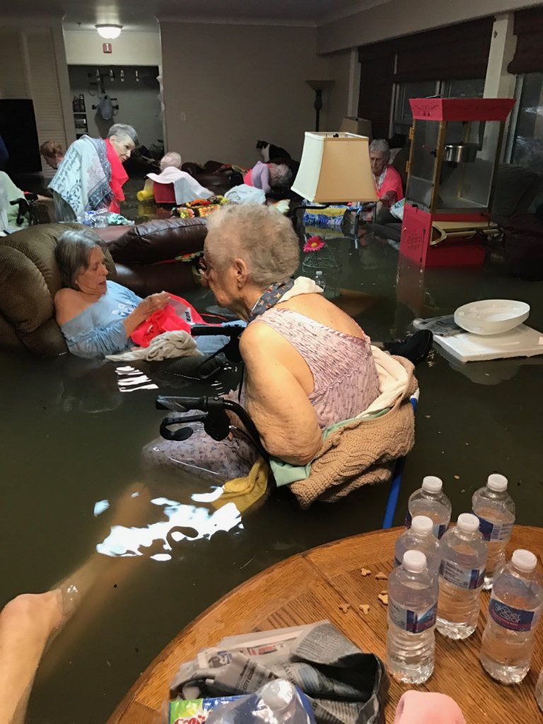 Nursing home flood 18 people rescued from
