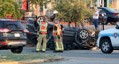 Three car accident snarls traffic on Broadway
