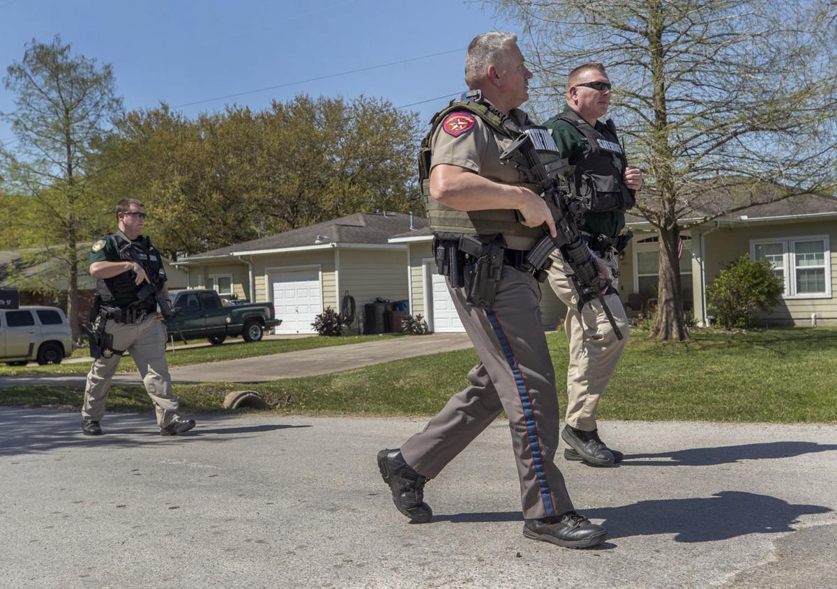 Police Search in Dickinson