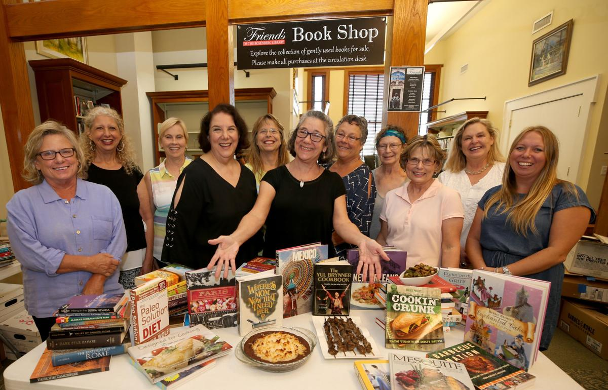 Cookbooks at the Friends of Rosenberg Library's annual Used Book Sale