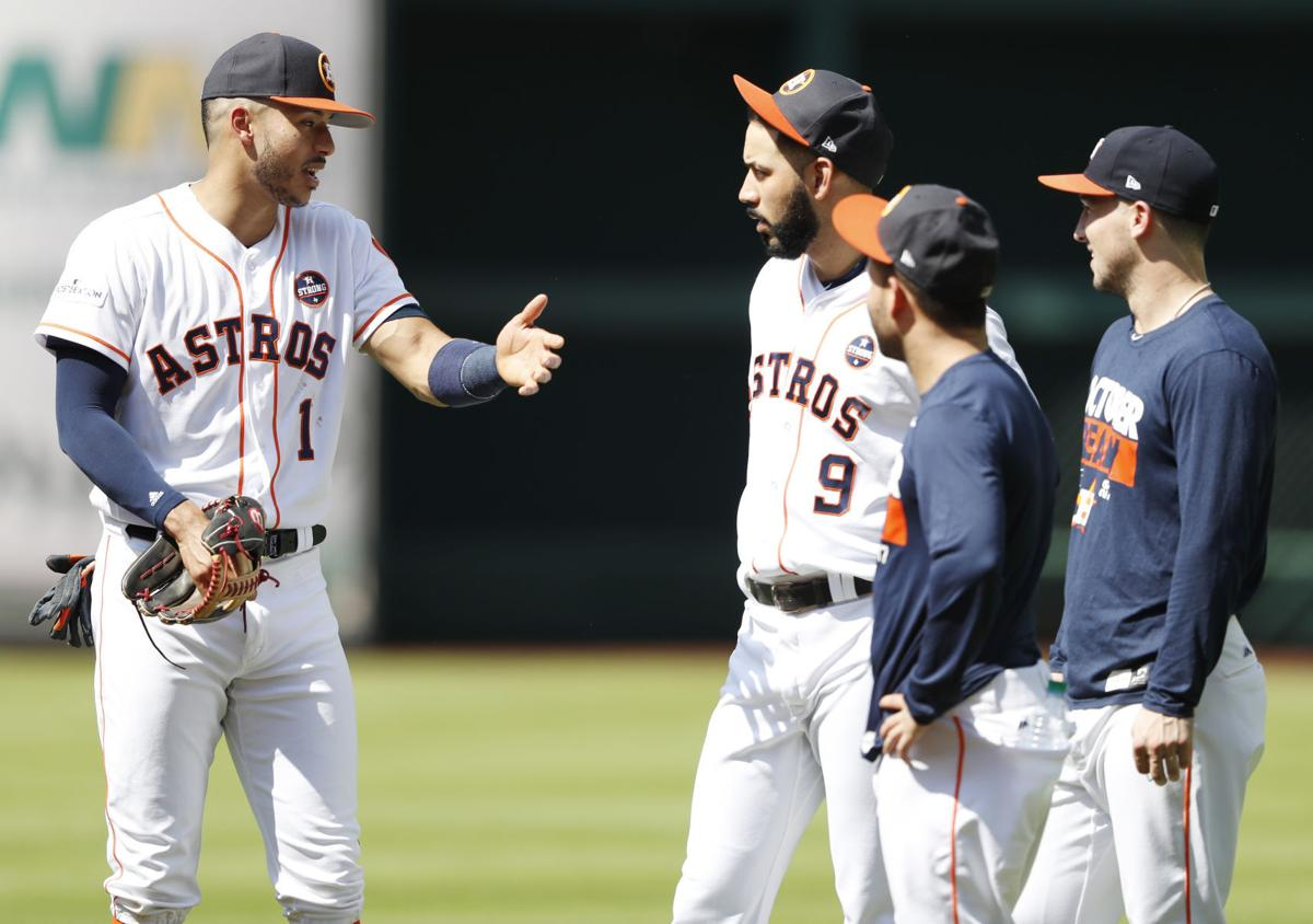 Astros ALCS Workout