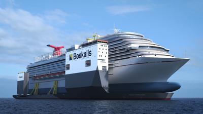 Rendering of Carnival Vista transport ship