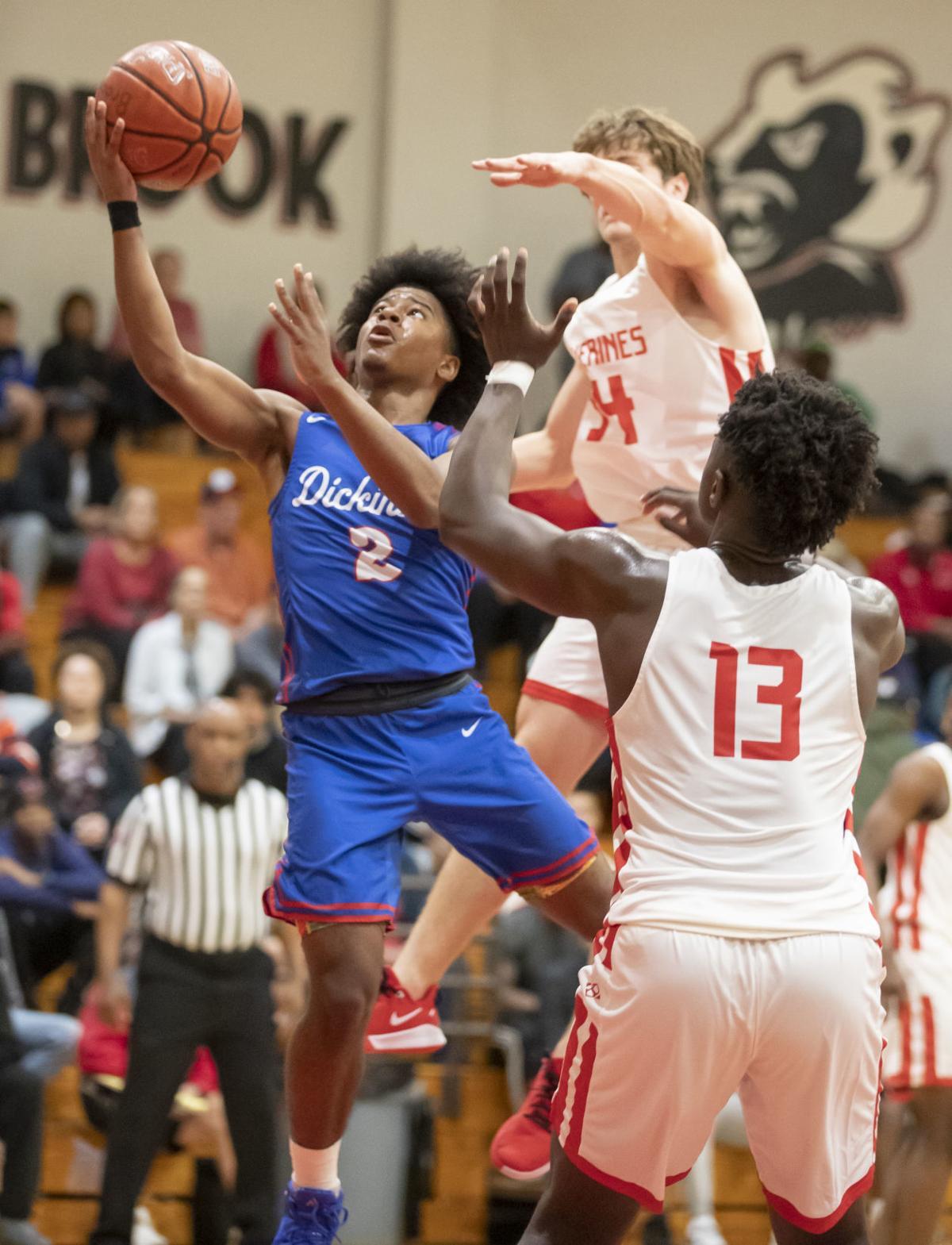 Dickinson vs Clear Brook Boys Basketball