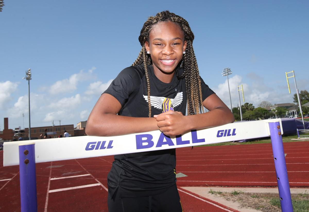 Ball High's Lehya Williams medals in four events at district championship
