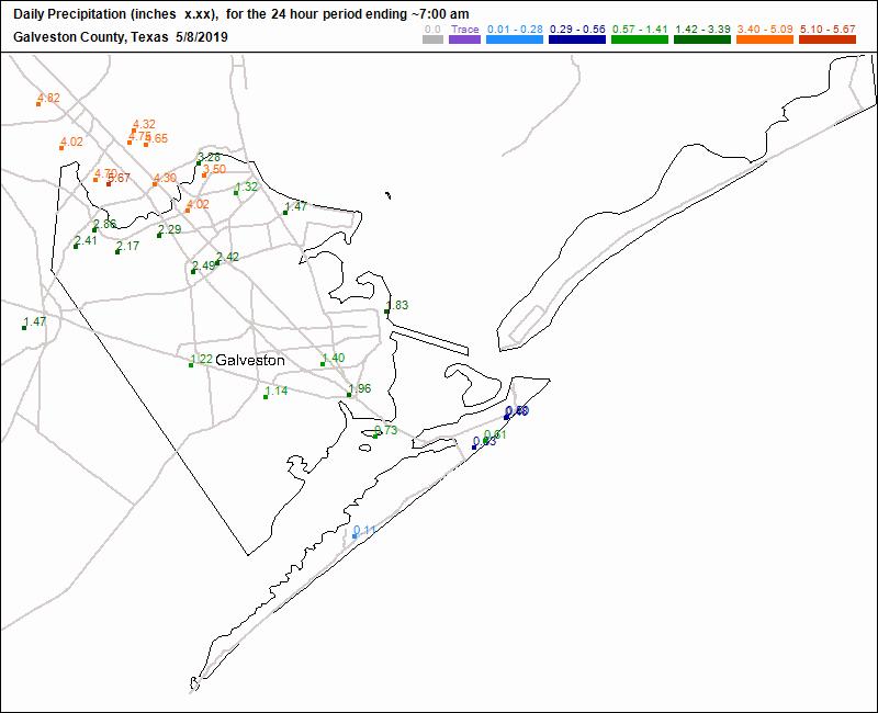 Galveston County Daily Precipitation