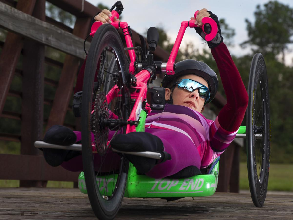 League City woman wins in handcycle division at Boston Marathon