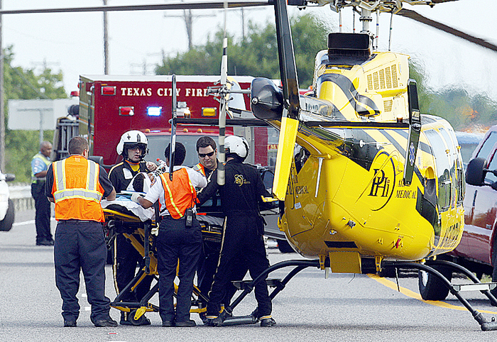 Boy, 7, airlifted after crash