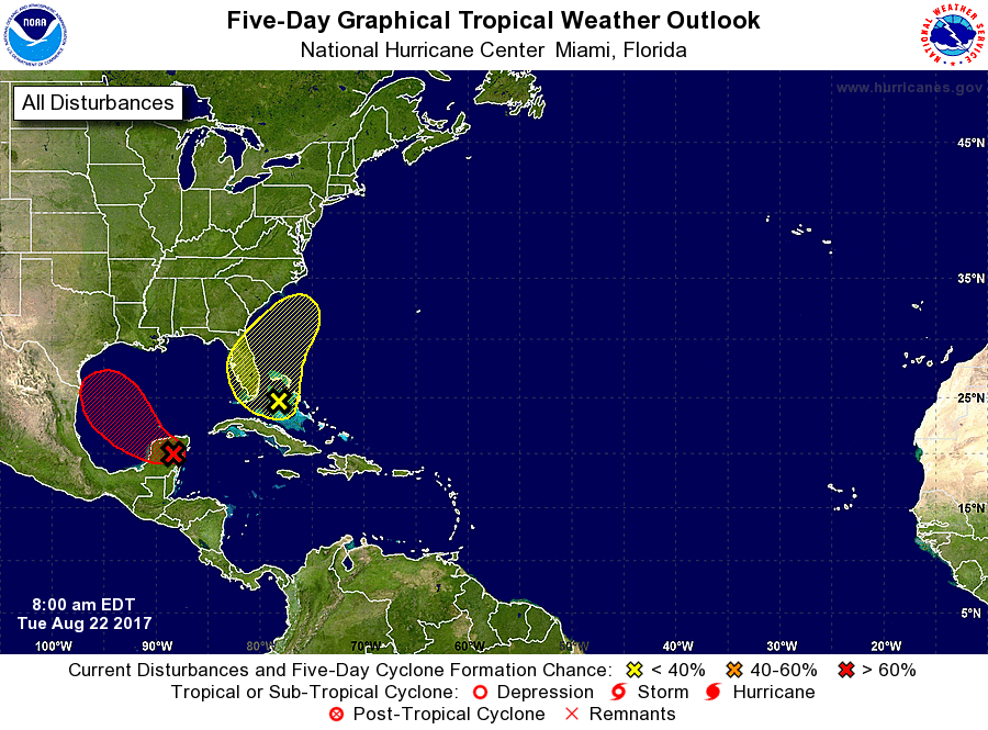 5-day outlook from the National Hurricane Center
