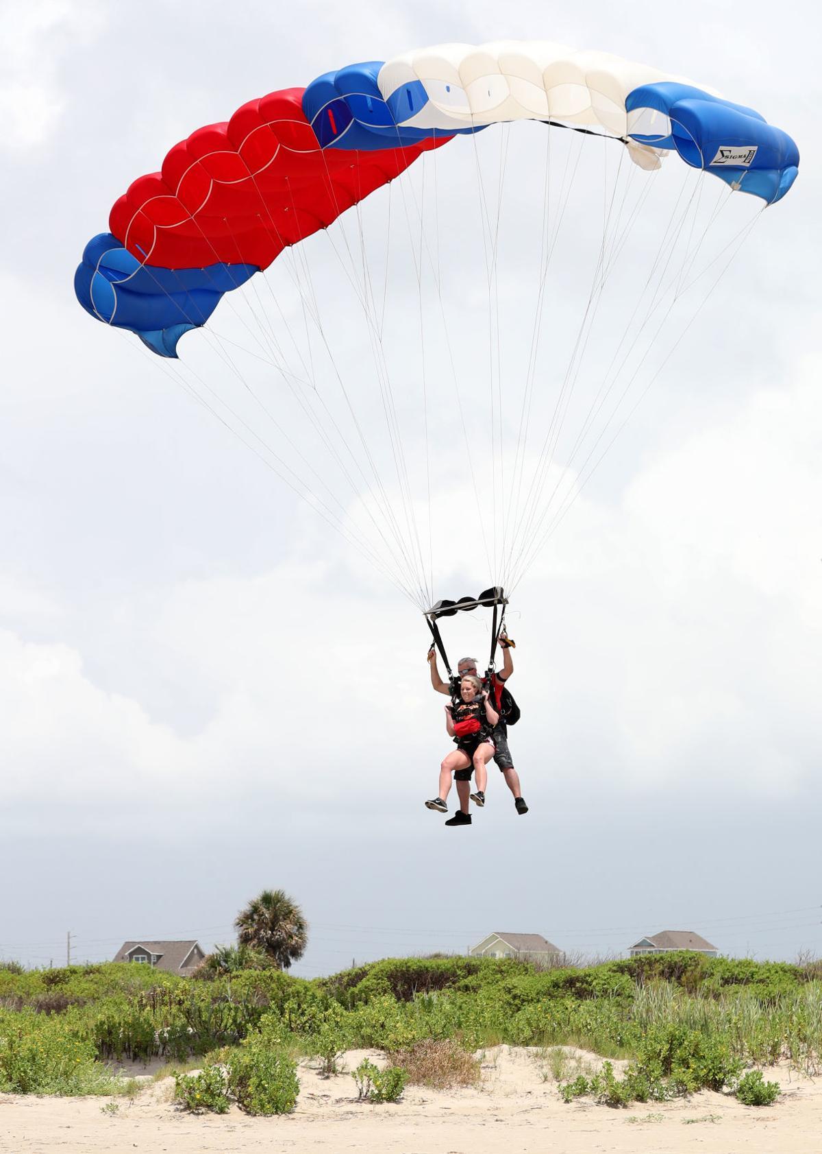 Skydiving in Galveston