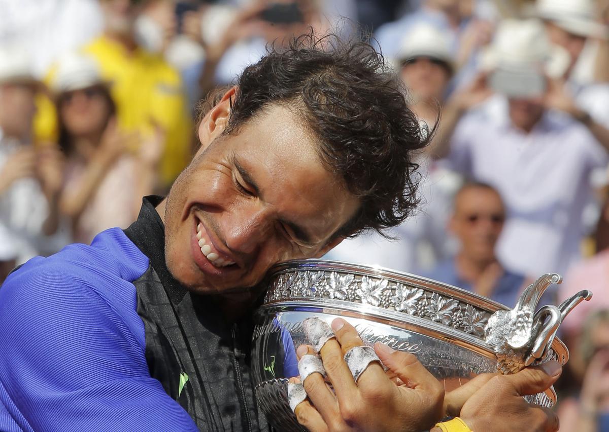 Rafael Nadal celebrates 10th French Open