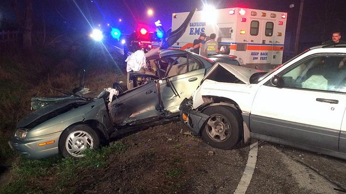Woman injured in wreck
