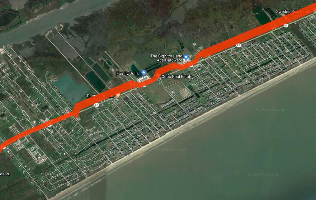 Coastal Barrier Google Map