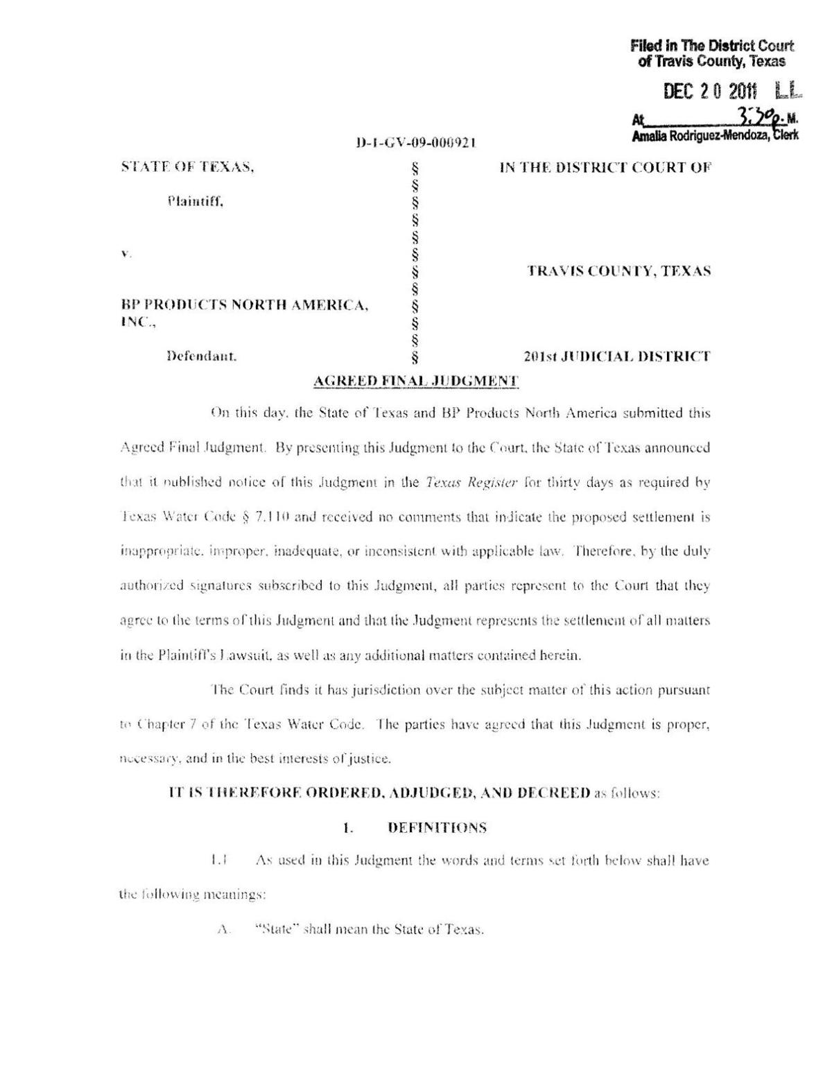 BP Agreed Final Judgment