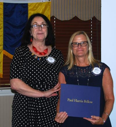 Judy Johnson recognized as Paul Harris Fellow