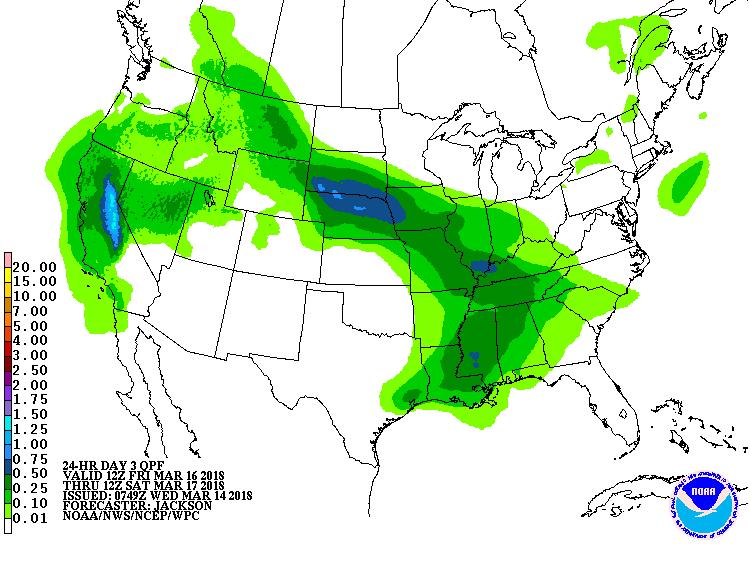 24 Hour Precipitation Total - Day 3