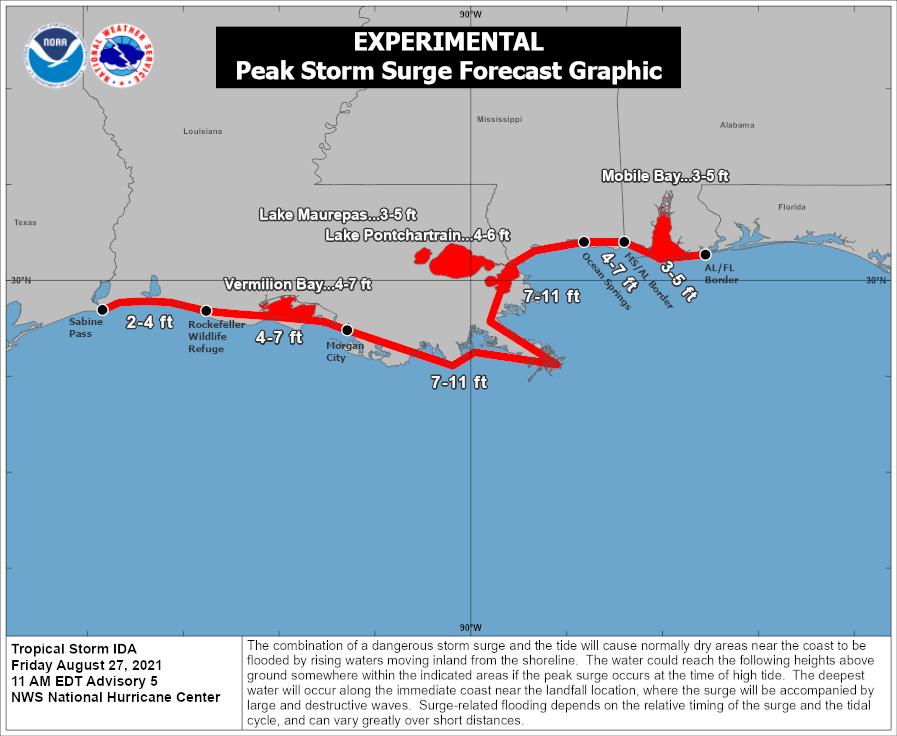 Hurricane Ida Storm Surge