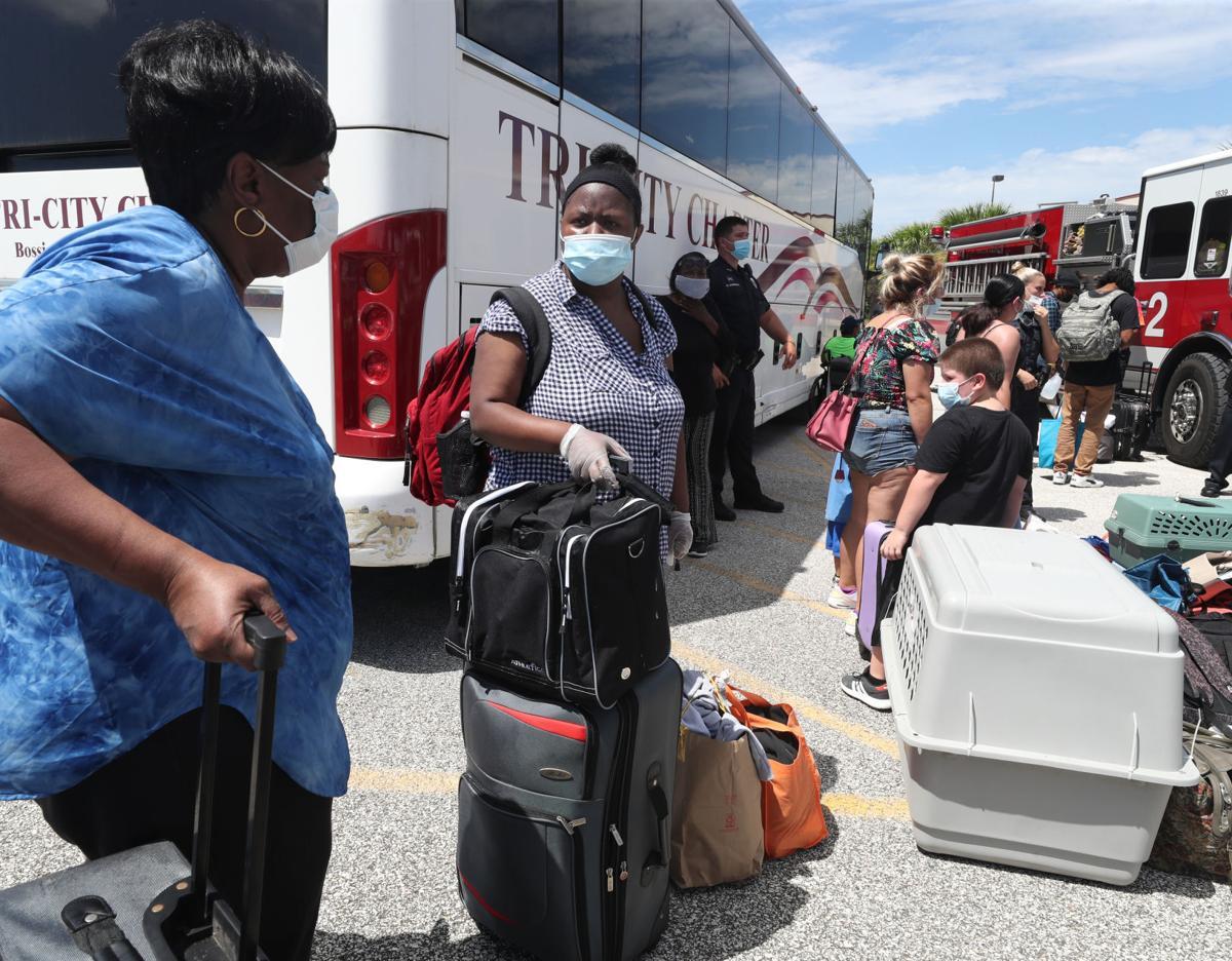Galveston residents evacuate ahead of Hurricane Laura