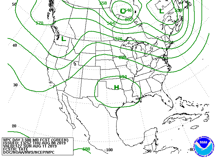 WPC Day 3 500MB Forecast