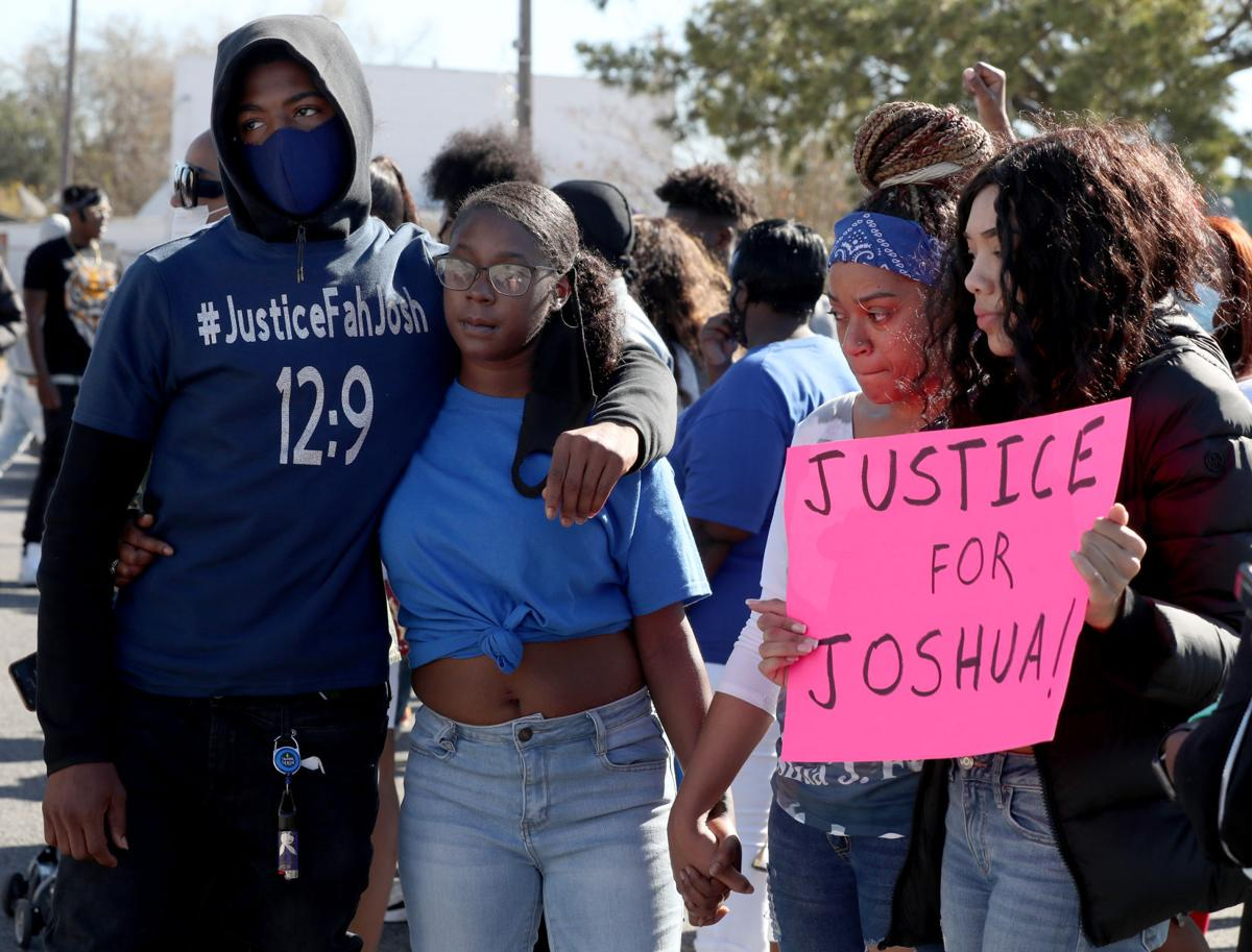 Marchers call for firing of La Marque Officer in Dec. 9 shooting