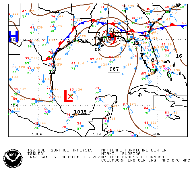 12Z Gulf Surface Analysis