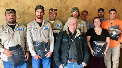 Ten GCWA employees recognized for 3-year safety records
