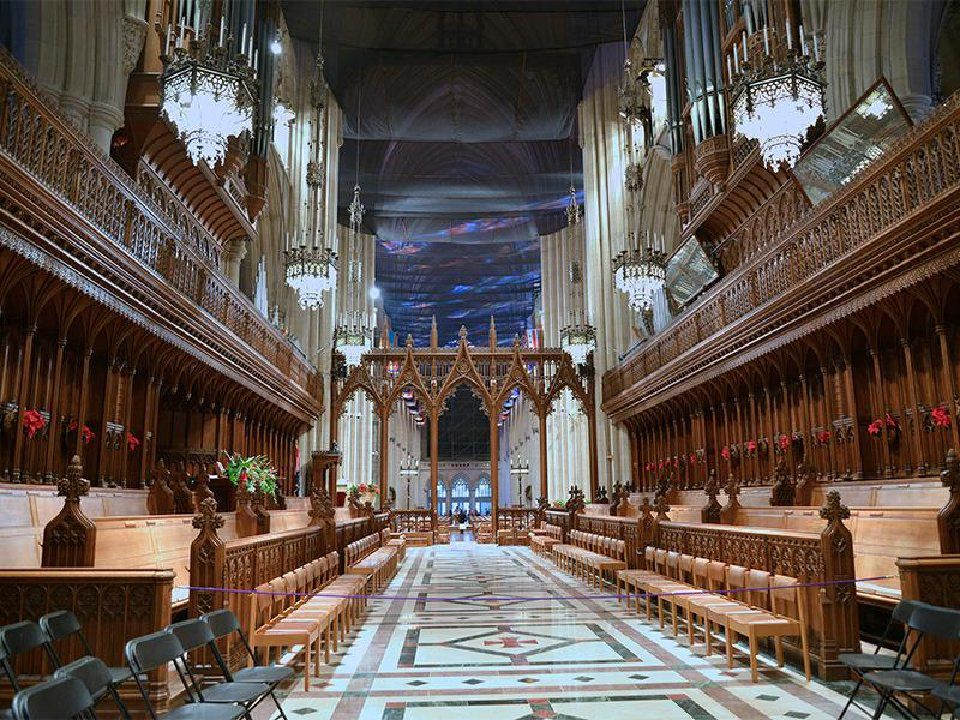 The choir loft of the Washington National Cathedral. Photo courtesy of Francisco Daum via Creative Commons