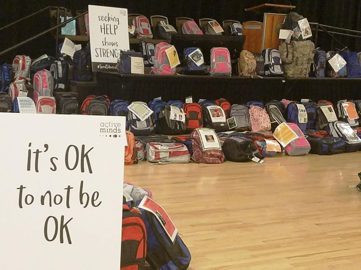 'Send Silence Packing' suicide prevention exhibit at UCCS
