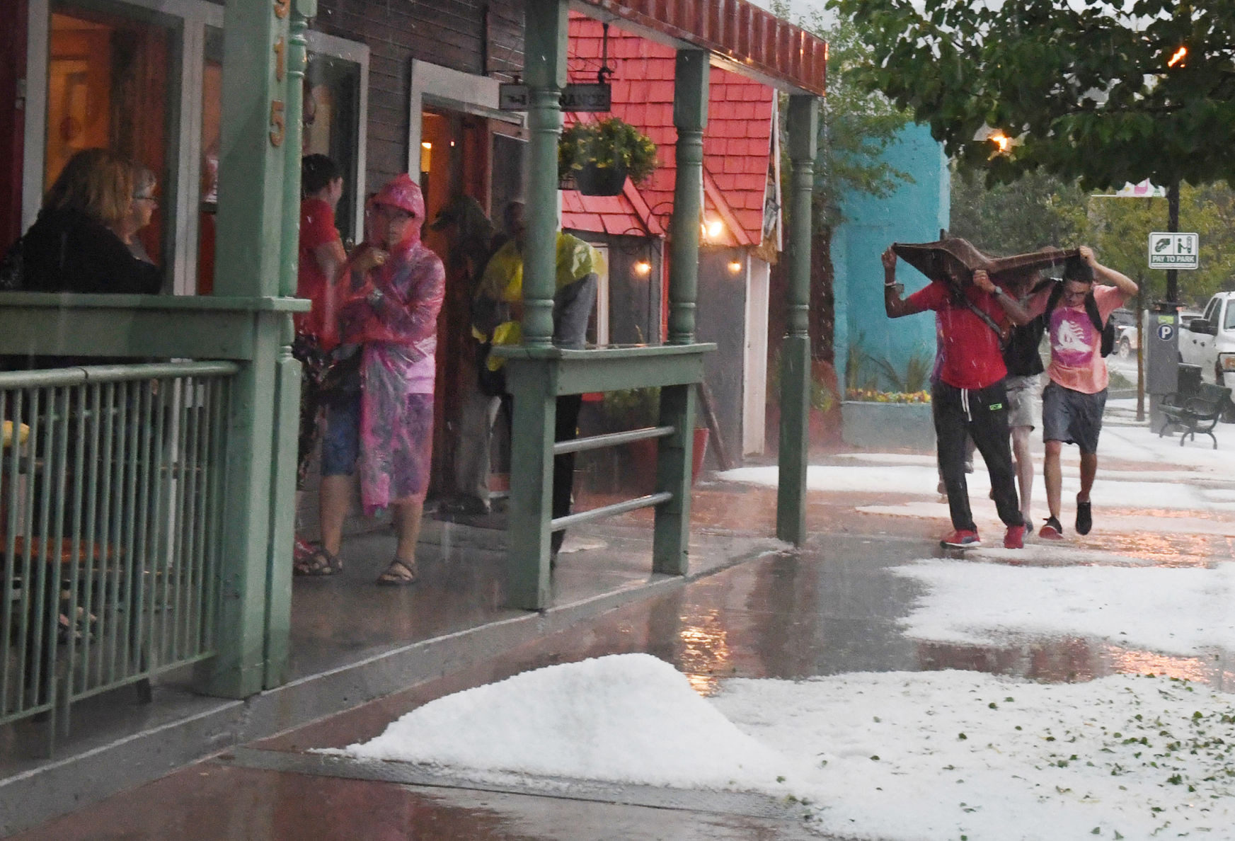 Hail Storm in Manitou Springs 2 Weather