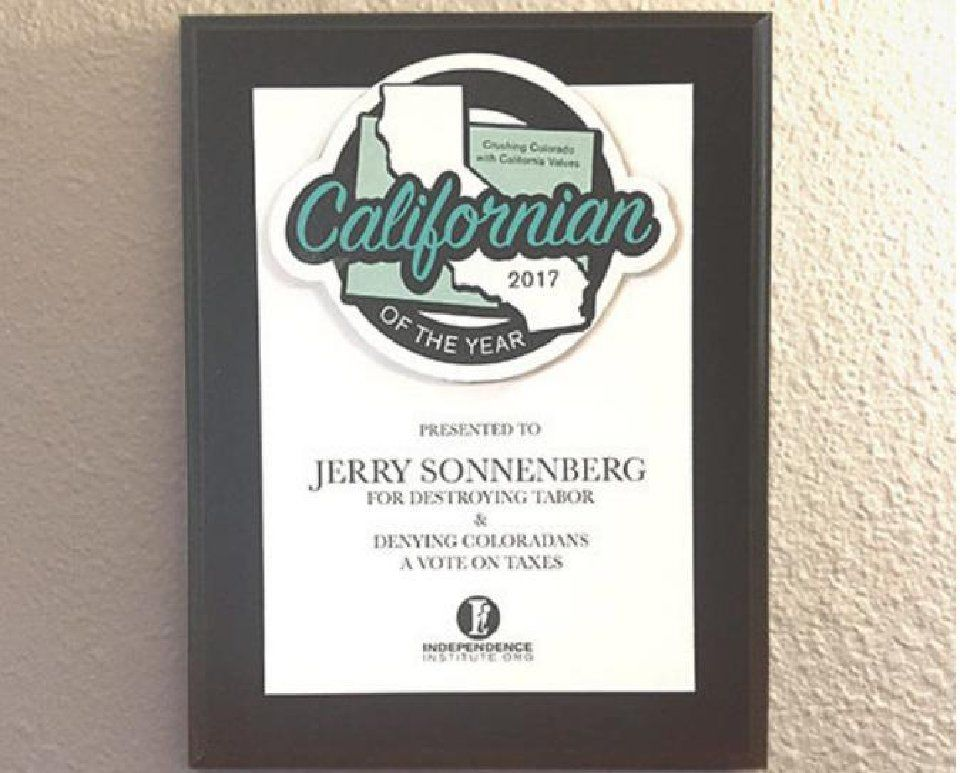 Colorado Republican wins dubious 'Californian of the Year' award from Independence Institute