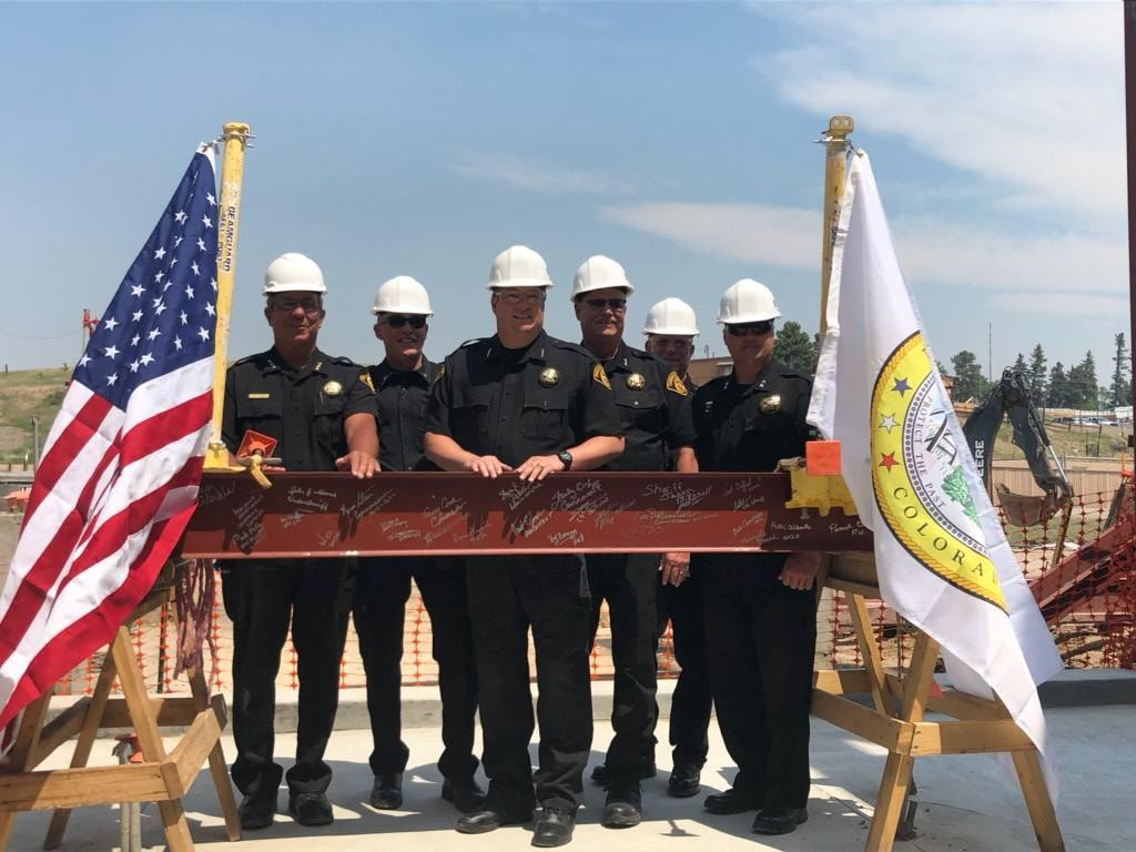 Teller sheriffs, county leaders celebrate new sheriff's office building with beam topping ceremony