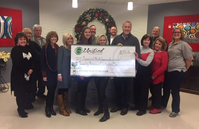 Unified Title donates to area organizations