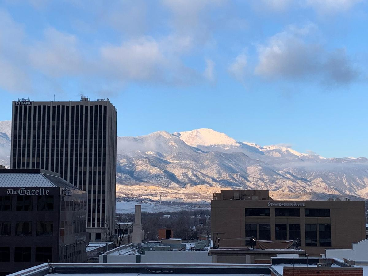 Pikes Peak from downtown Colorado Springs