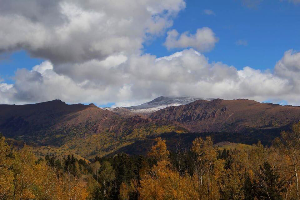 View of Pikes Peak near Cripple Creek