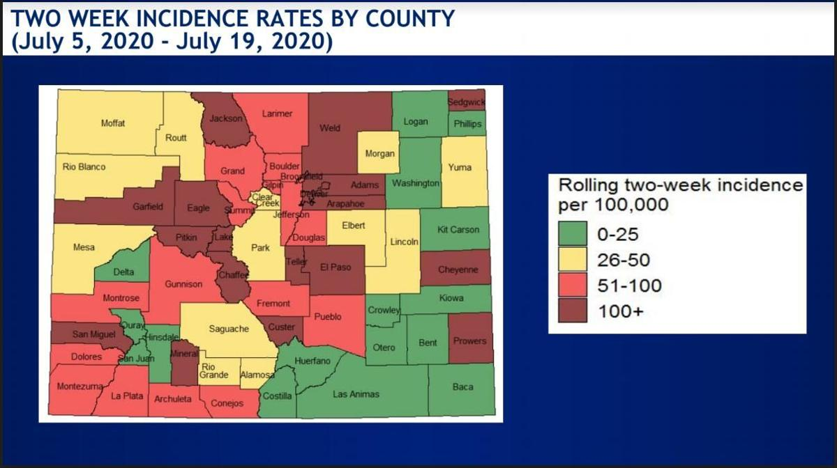 July 21 CDPHE state incidence map