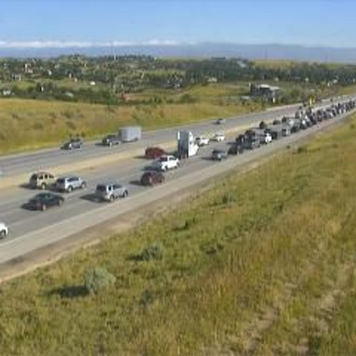 Monday's traffic: Lane blocked on I-25, north of Castle Rock